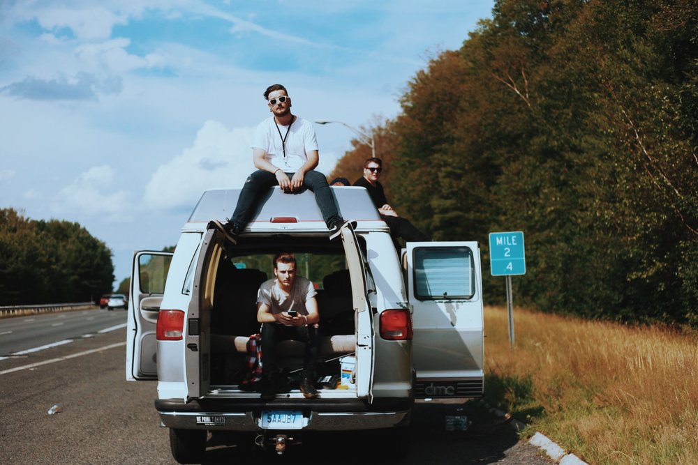 Somewhere near MA - 7.16.2016 // What was supposed to be a promo shoot in Boston, turned into a three hour long campout on the side of the highway when the van died (RIP Tyrone). The boys in In Honor Of made the best out of the situation and we got home eventually.