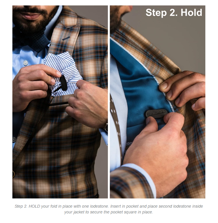 Pocket Square Snap The only invention a man needs. by p.s. mister  Fashion Inventions — Kickstarter-step 2.png