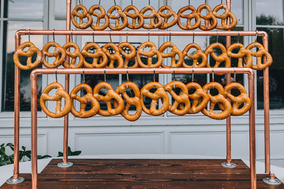 handmade pretzel stand