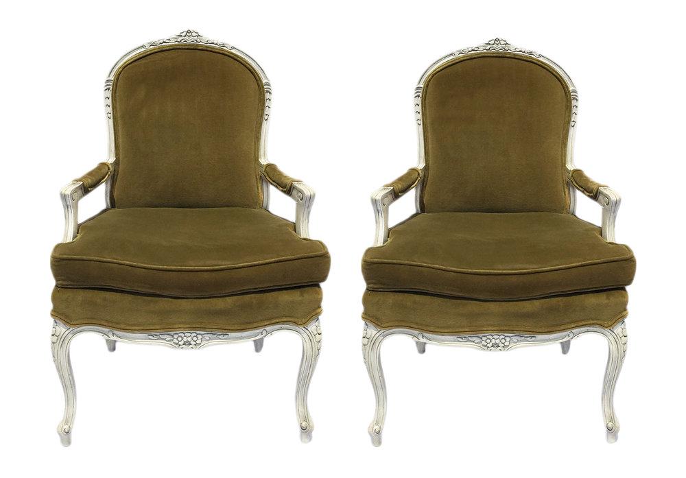 Green velvet armchair pair.jpg