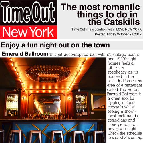 Thank you Time Out NY for including us in  this feature on the Catskills