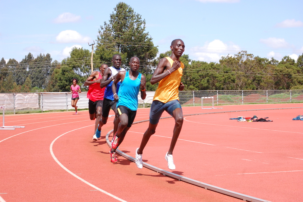 Kiprop in lead...