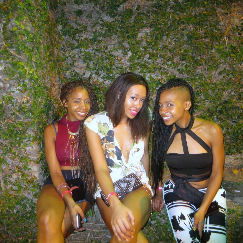 Right to left: June, Chanel, Joy; The end of the night after Tribe Ignite