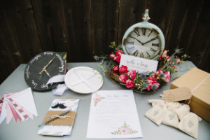 Around the Clock Bridal Shower Theme_Around the Clock_Party Box Contents