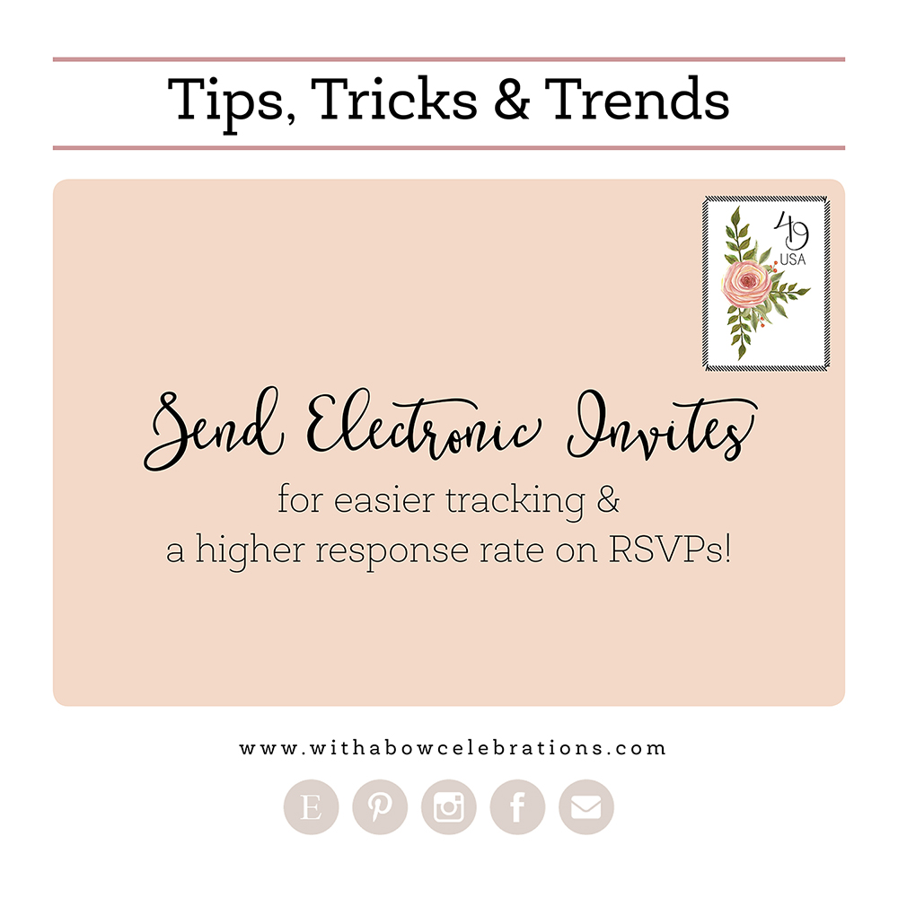 Party Planning Tips, Tricks and Trends_Electronic Invites