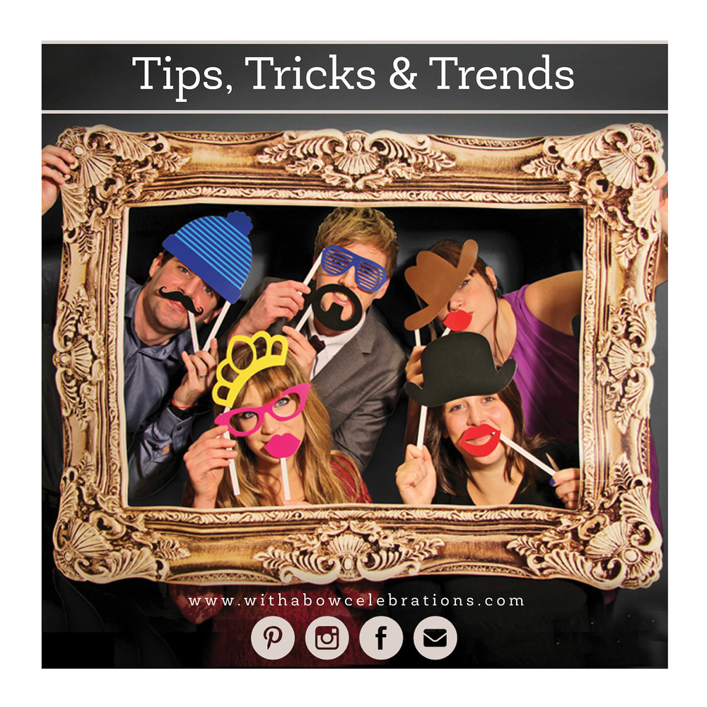 Photo booths have been on high trend for the last few years at weddings, however weddings aren't the only place to capture the fun! Consider having a photo booth at your bridal shower, birthday party or any get together with friends. Pick props that compliment your party's theme (or buy a prop set like   this one by Paladone  ), download a DIY photo booth app like Custom Booth or Party Booth, and set up to a printer so your guests can take home a great memory from the night!