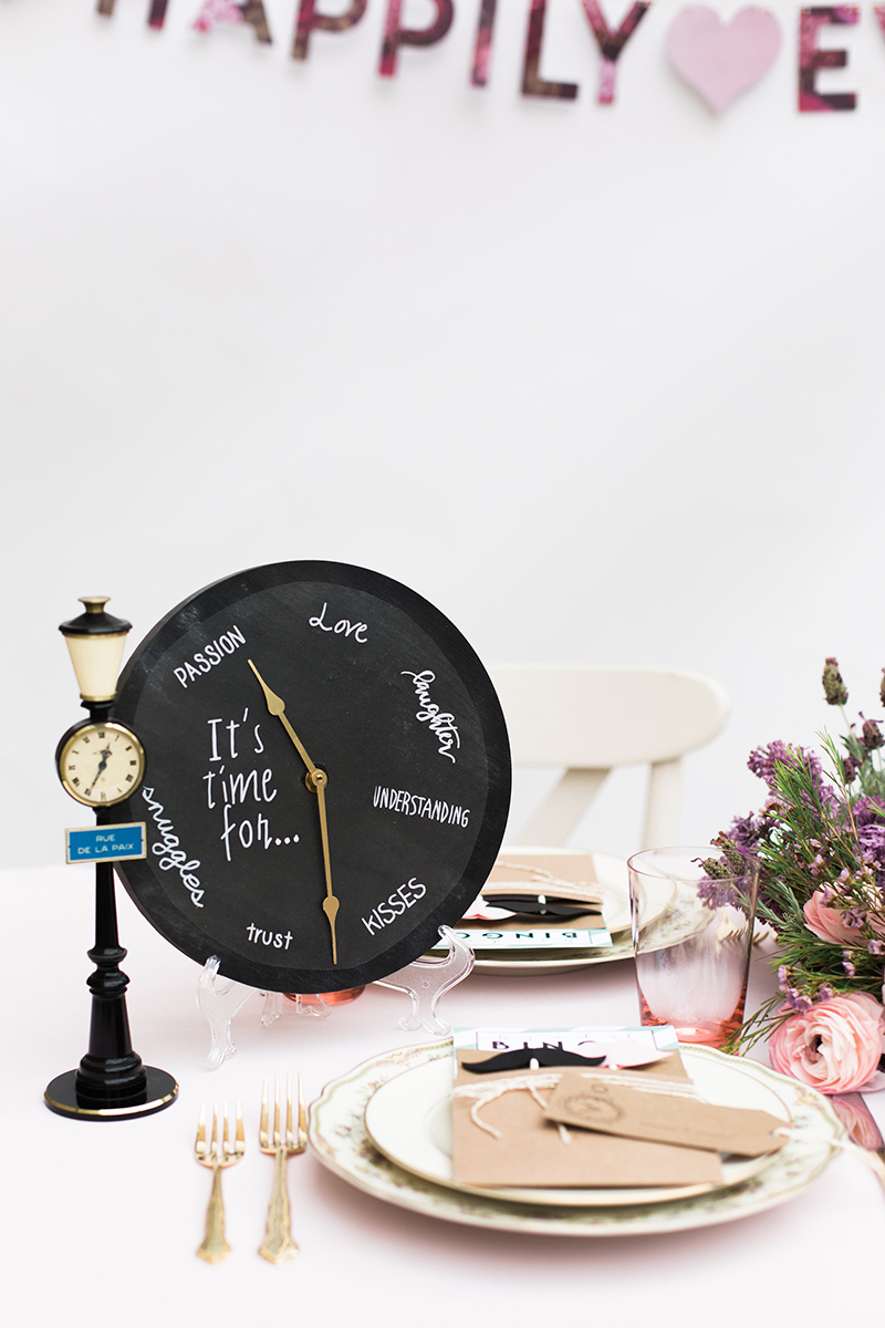 Chalkboard Clock Guest Book