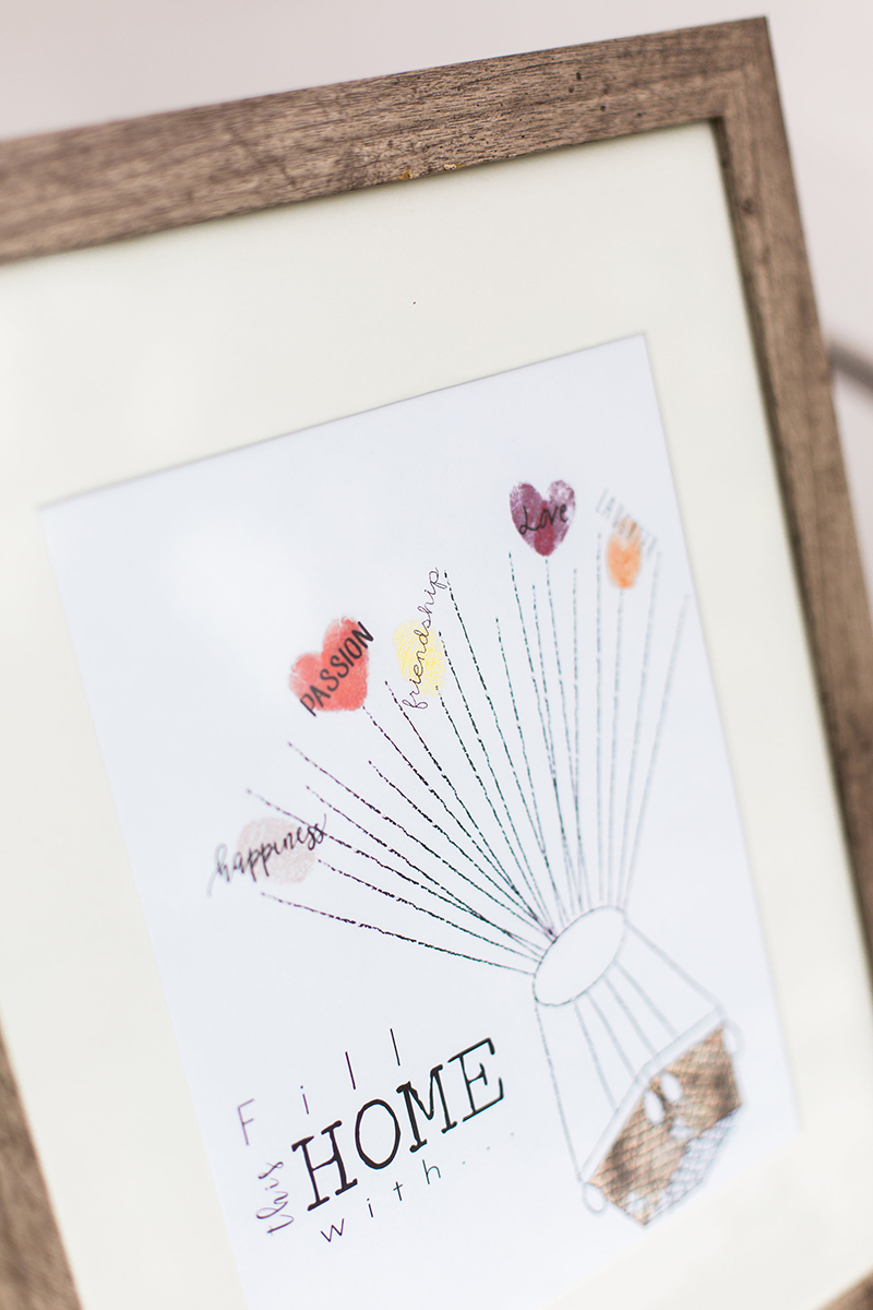Hot Air Balloon Print Thumbprint Guestbook