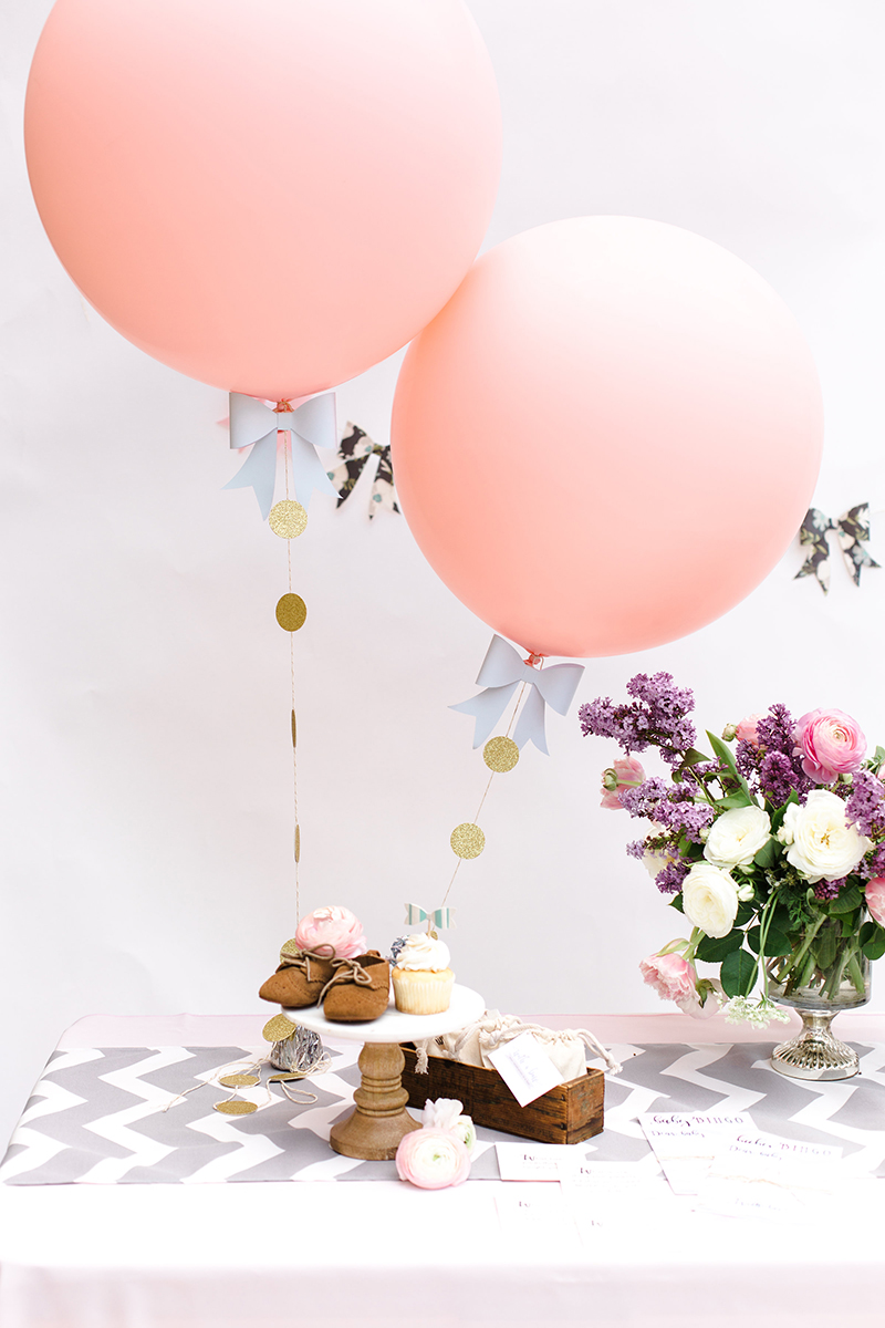 Jumbo Pink Balloons with Bow Tassel