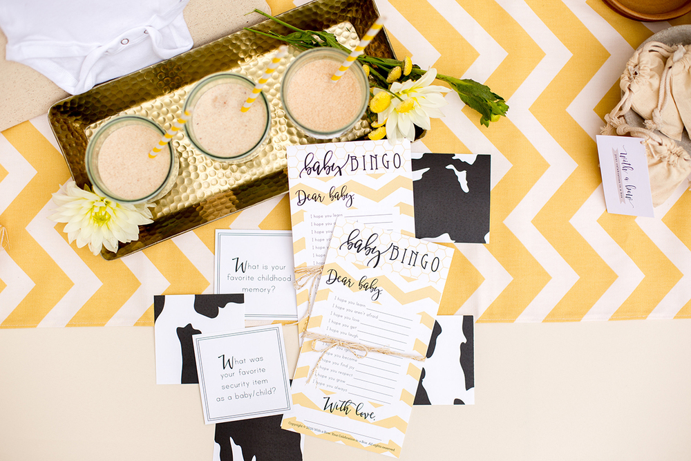 Milk and Honey Neutral Baby Shower Theme