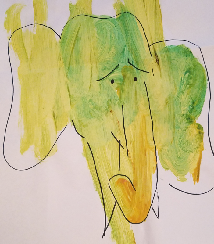 Sad Elephant  (  This was my first transformation, and it's still my favorite!)