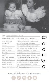 Clixk the image above to get the recipe for Nonna Flo's Pasta Sauce!