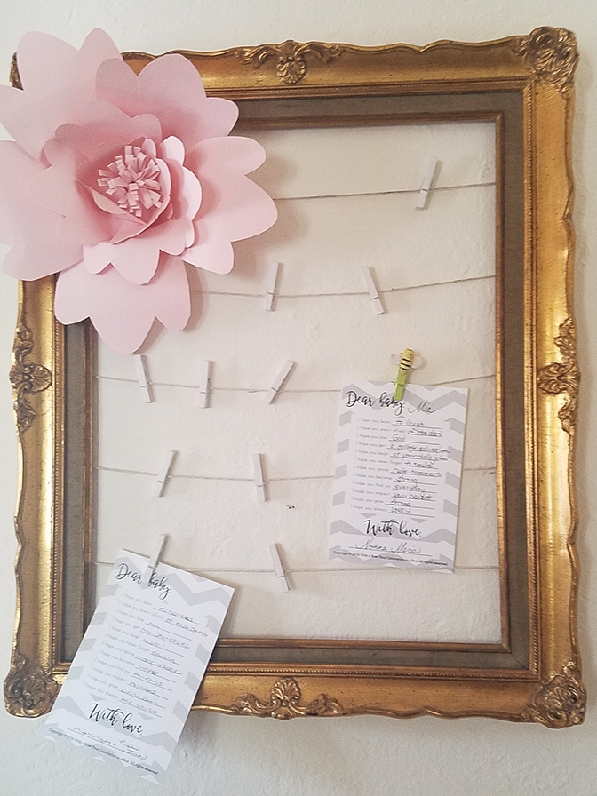 Custom paper flowers by Morgan and Wishes for Baby from   B is for Baby box  .
