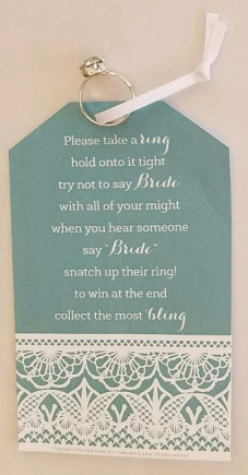 Don't Say Bride Bridal Shower Game