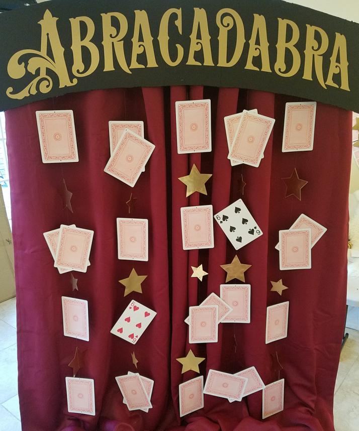 Abracadabra Magic Themed Photo Booth Backdrop