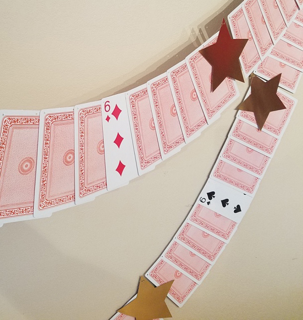 Magic Themed Deck of Cards Garland -- 6th birthday