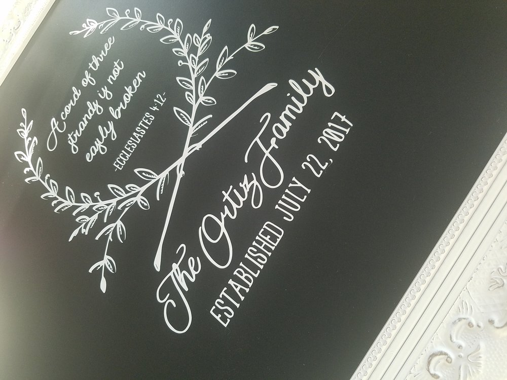 Chalkboard Decal Wedding Gift