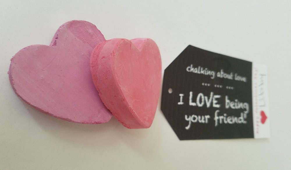 These adorable   chalk hearts   can be purchased at   Target  .