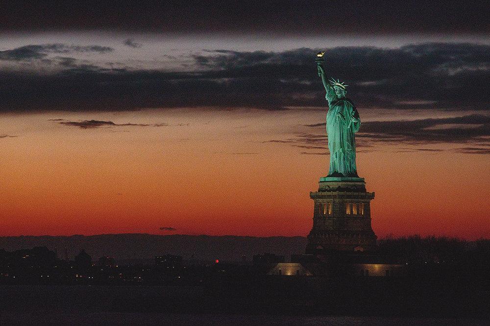 Statue of Liberty. A city symbol.