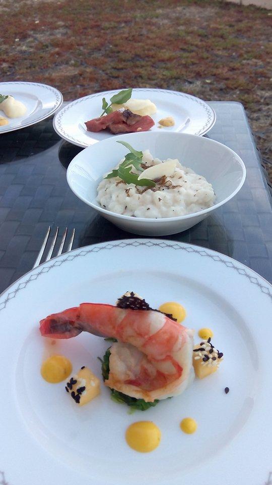 Having dinner at Hotel Peninsula