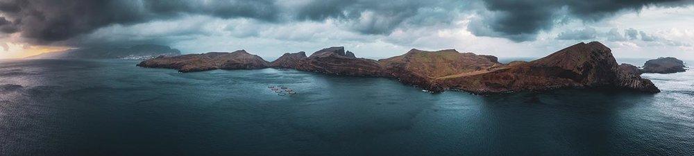 Panoramic view or Ponta de São Lourenço
