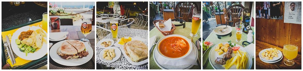 From Pingo Doce to Bolo do Caco and Restaurant Le Jardin ending with Poncha.