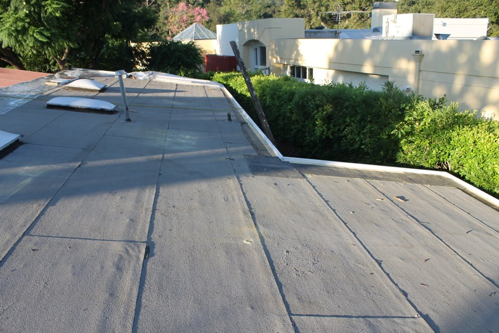 Roof before Monterey Park Roofing Company replacement