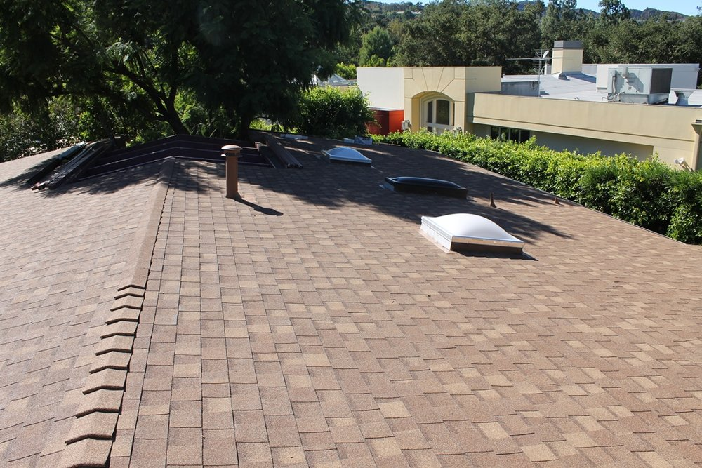 Roof after Monterey Park Roofing Company replacement