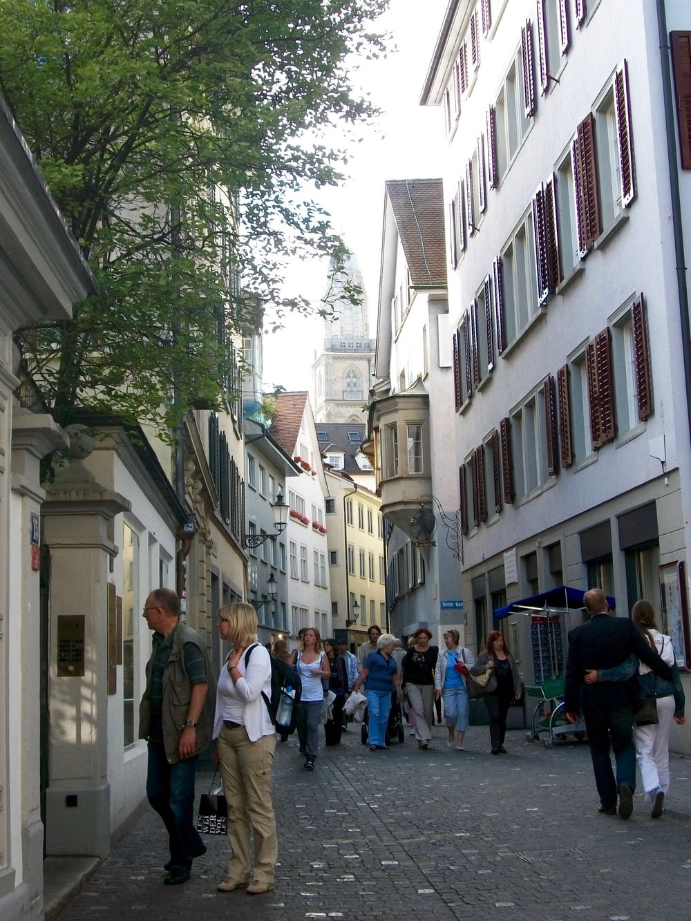 Wandering the streets of Zurich, Switzerland