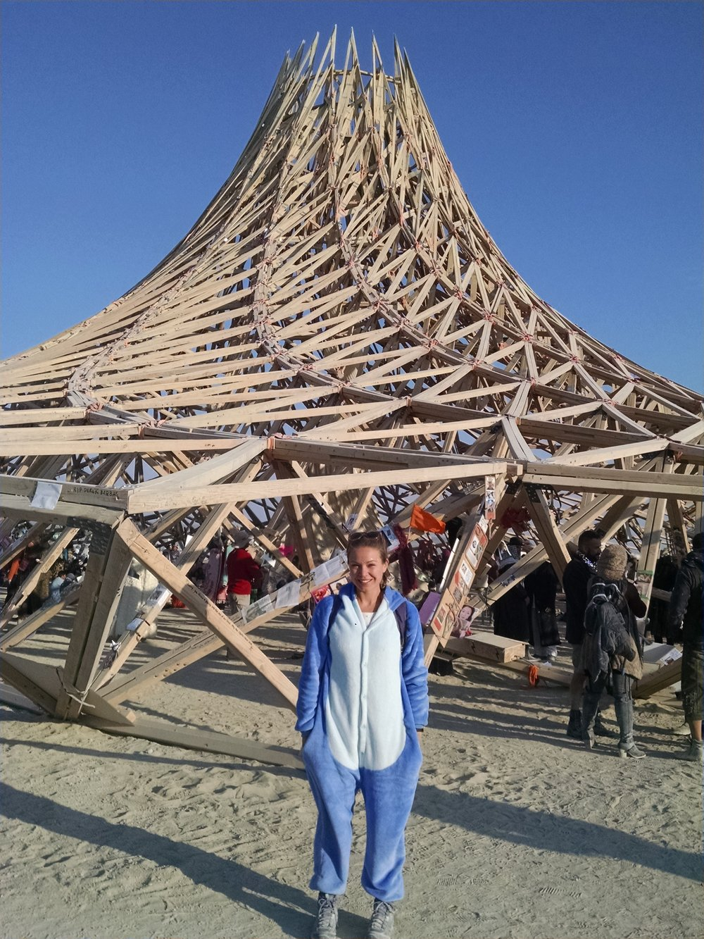 The Temple before the burn at Burning Man, Black Rock City, NV