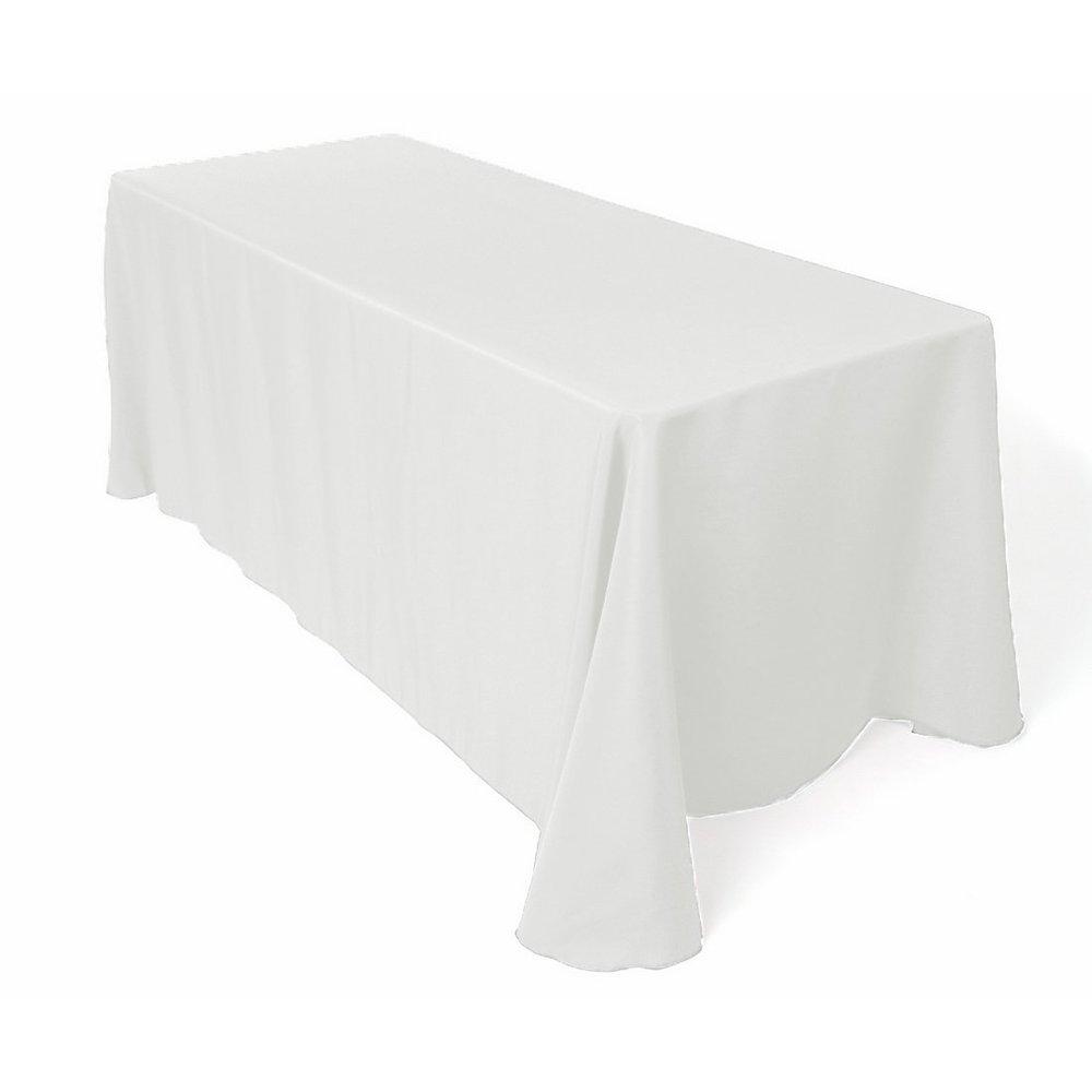 8' Ritz Linen Drape in Snow