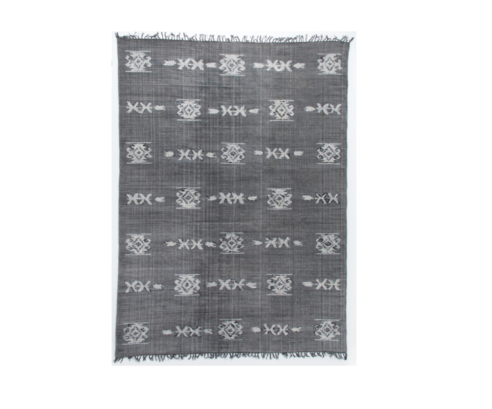 Matte Black Tribal Rug </br> Recommended Quantity: 1
