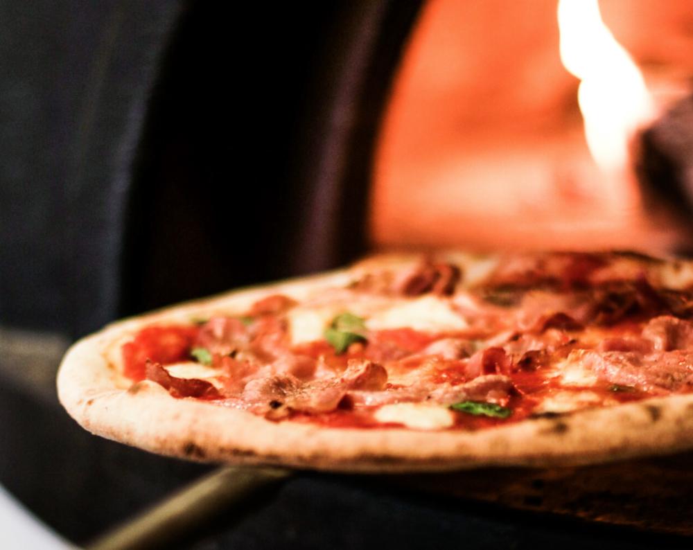 The popular Parma pizza at Bath Pizza Co