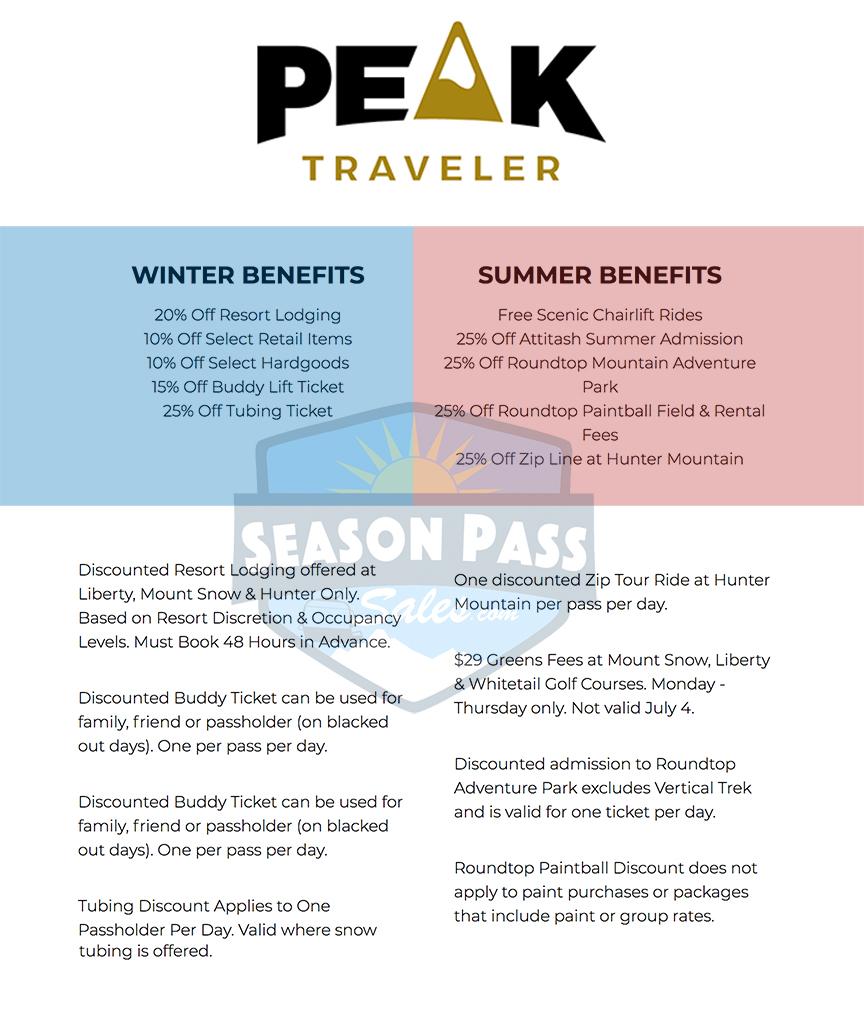 Peak Pass Traveler Benefits 2019/2020