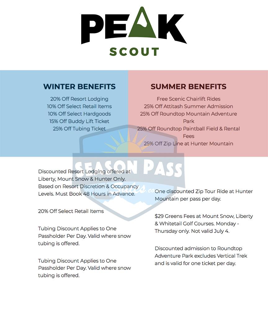 Peak Pass Scout Benefits 2019/2020
