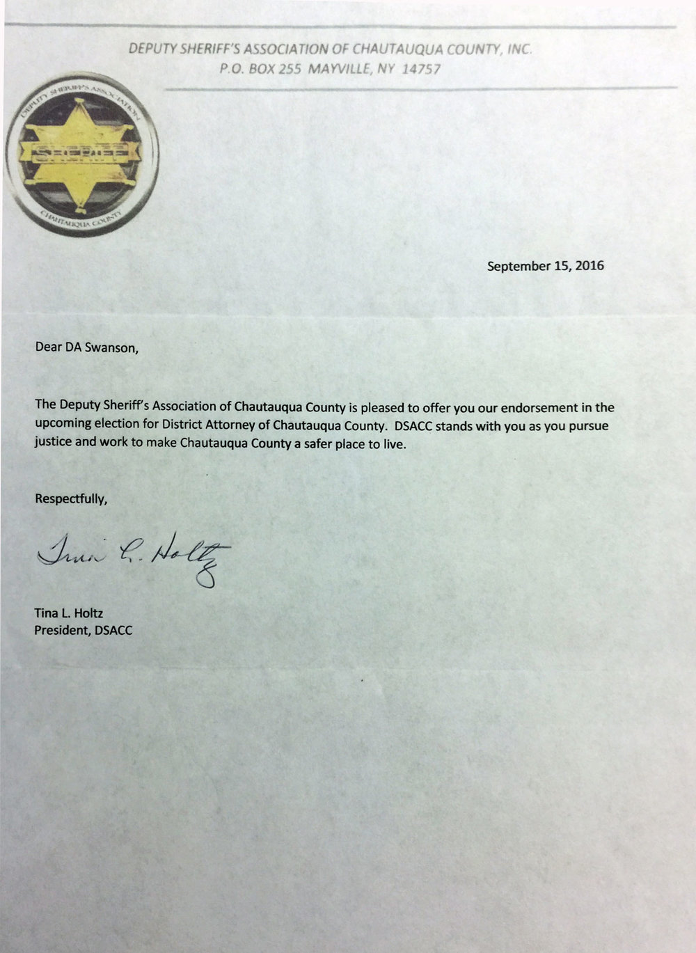 Deputy Sheriff's Association of Chautauqua County