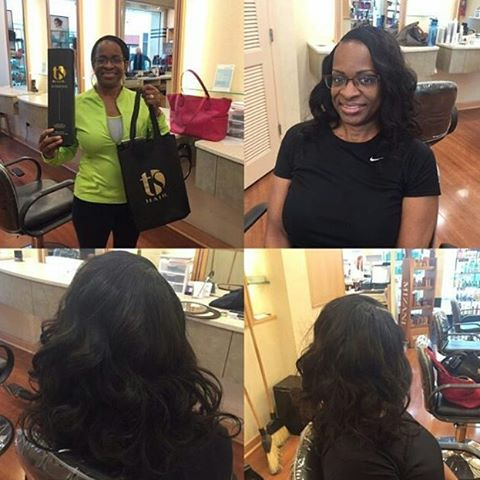 Client is wearing Spring Wave.