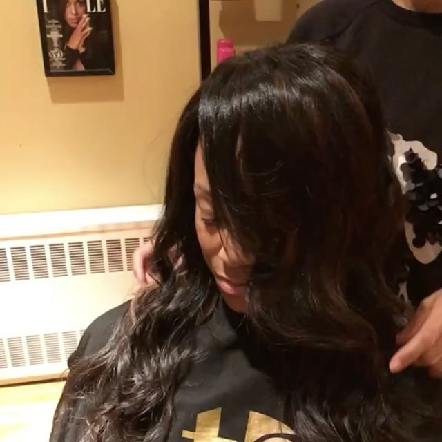 Nikki is loving her polished natural-looking waves. She is wearing TSD Hair Body Wave.