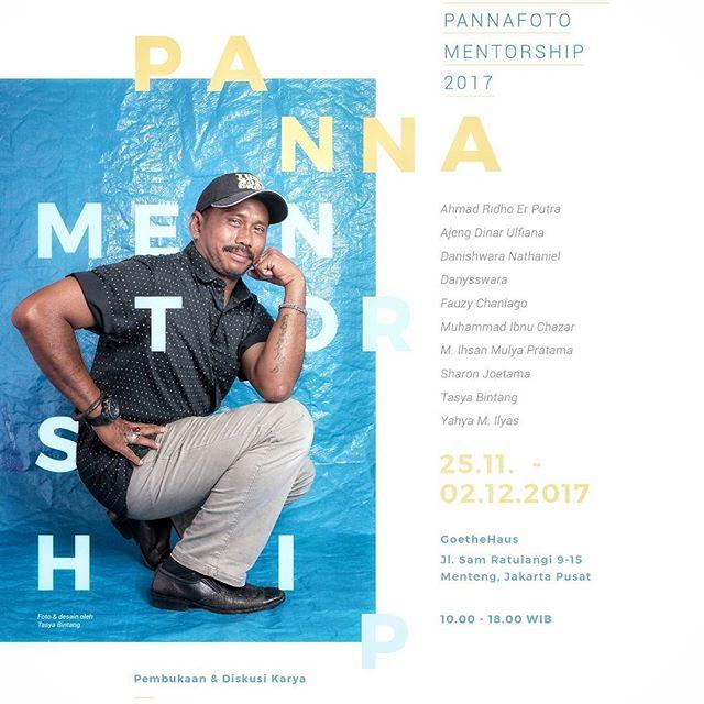 Hey Guys! I'm  excited to share the upcoming exhibition I'm having in Jakarta! Please help me share the event, the more people come the merrier, especially with the fact that I can't be there. :( . . PANNA MENTORSHIP 2017  Pembukaan & Diskusi Karya  Sabtu, 25 November 2017  Pukul 18:30 WIB  Pameran  25 November – 2 Desember 2017  10:00-18:00 WIB  GoetheHaus  Jl. Sam Ratulangi 9-15  Menteng, Jakarta Pusat 10350  Ahmad Ridho Er Putra (Universitas Muhammadiyah Prof. Dr. HAMKA, Jakarta)  Ajeng Dinar Ulfiana (Institut Ilmu Sosial dan Ilmu Politik, Jakarta)  Danishwara Nathaniel (Amsterdam University College, Amsterdam)  Danysswara (Institut Seni Indonesia, Yogyakarta)  Fauzi Chaniago (Bali)  Muhamad Ibnu Chazar (UIN Syarif Hidayatullah, Jakarta)  Muhammad Ihsan Mulya Pratama (Ilmu Komunikasi, Universitas Muhammadiyah, Surakarta)  Sharon Joetama (Art Center College of Design, Los Angeles)  Tasya Bintang (BINUS University, Tangerang)  Yahya M. Ilyas (Ilmu Komunikasi – FISIP, UniversitasTadulako, Palu)  Informasi  Lisna Atmadiardjo  085215565835  lisnaadwi@pannafoto.org  www.pannafoto.org