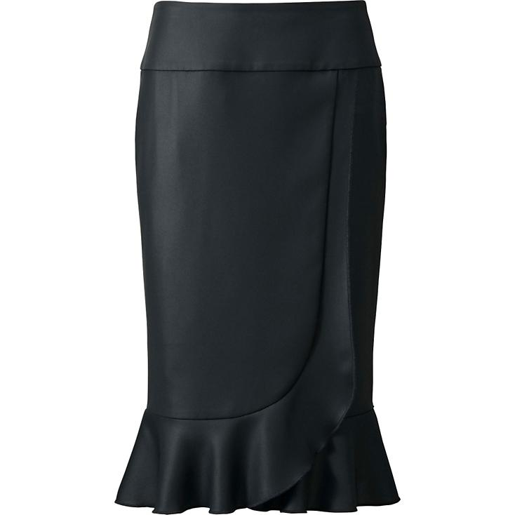 RUFFLE SKIRT IN BLACK, $49.90.