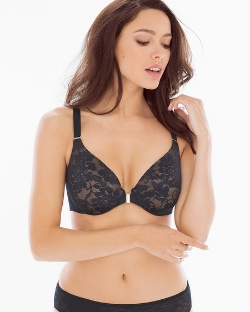 Vanishing Back Full Coverage Front Close Lace Bra, $54.