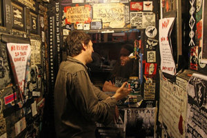A music fan gets ready to enter the famous Milestone Club. Photo by Daniel Coston.