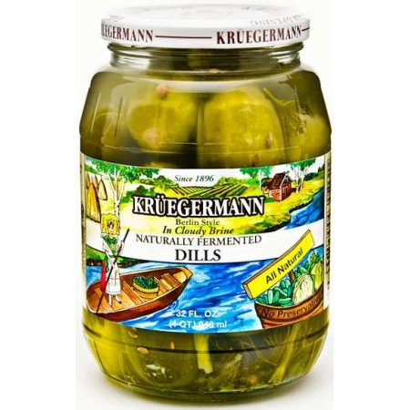 Kruegermann Naturally Fermented Pickles, $6.95 at Walmart.