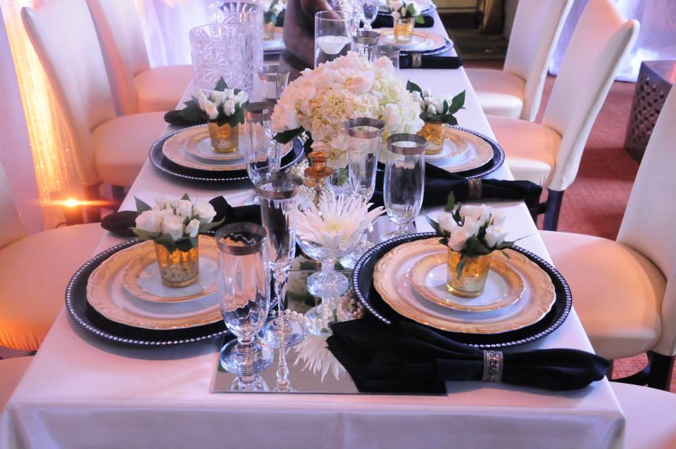 One of Portia's stunning tablescapes for The Kee Group.