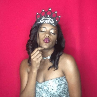Event designer Portia Kee, founder of The Kee Group, has fun in the Photo Booth at her own birthday party.
