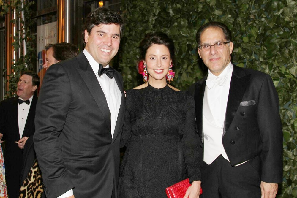 Opera carolina's bella notte Gala chairs Todd AND ALEX Holleman with Maestro James Meena.  photos by Daniel Coston.