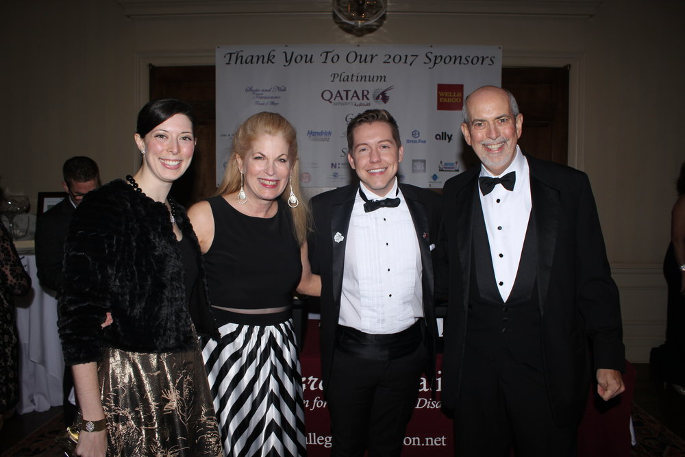 Hadley Perry Pacheco of Perry's Fine Antique & Estate Jewelry, Allegro Foundation Founder/President Pat Farmer, Allegro Foundation Communications and Marketing Specialist Stephen Davis and Auctioneer Ernest Perry.