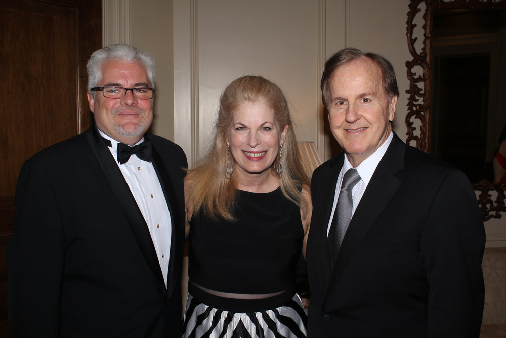 Counselor Lorenzo Ravano of the Embassy of Monaco with Pat Farmer and U.S. Congressman Robert Pittenger.