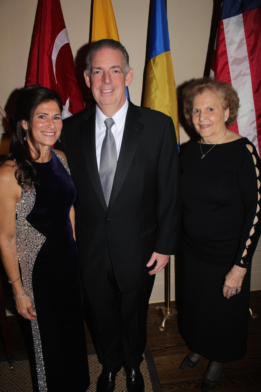 Donna and Al de Molina with Julia Sayegh.