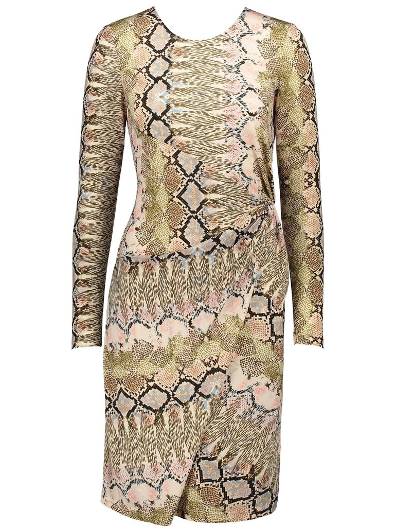 This Reptile Print Dress from N.C. fashion house Doncaster is one of the new pieces for Spring.